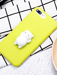 abordables -Funda Para Apple Manualidades Blando Cubierta Trasera Gato Dibujo 3D Suave Silicona para iPhone 8 Plus iPhone 8 iPhone 7 Plus iPhone 7