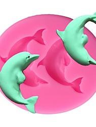 Недорогие -дельфин силиконовые формы для выпечки торта 3d помадка мыло шоколадные конфеты