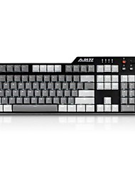 cheap -AJAZZ AJAZZ-AK35i -PBT Wired Monochromatic Backlit Black Switches Blue Switches 110 Mechanical Keyboard Backlit