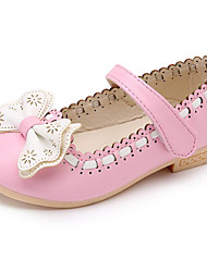 cheap -Girls' Shoes Leatherette Spring Fall Comfort Flower Girl Shoes Flats for Casual Pink Blue White