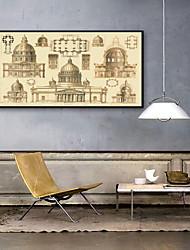 baratos -Vida Imóvel Arquitetura Ilustração Arte de Parede,PVC Material com frame For Decoração para casa Arte Emoldurada Sala de Estar Quarto