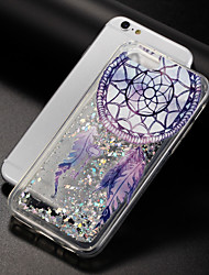 cheap -Case For Apple iPhone X iPhone 8 Flowing Liquid Pattern Back Cover Glitter Shine Dream Catcher Soft TPU for iPhone X iPhone 8 Plus iPhone