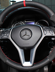 cheap -Steering Wheel Covers Genuine Leather 38cm Mercedes-Benz E Class / C Class / B200 All years