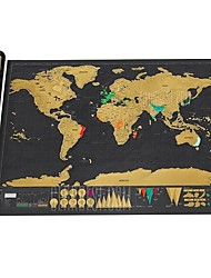 cheap -Large Size Personalized Scratch-off World Map Poster Travel Toy - 32.4 x 23 inch - COLORMIX