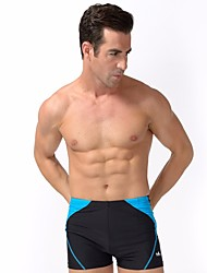 baratos -Homens Sólido Fashion Calcinhas, Shorts & Calças de Praia Roupa de Banho Esporte & lazer, Acrílico Azul Preto