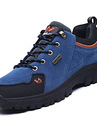 baratos -Mulheres Sapatos Camurça Primavera / Outono Conforto Tênis Aventura Sem Salto Ponta Redonda Marron / Verde / Azul