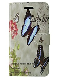 abordables -Coque Pour Huawei P8 Lite Porte Carte Portefeuille Avec Support Clapet Coque Intégrale Papillon Fleur Dur faux cuir pour Huawei