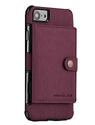 preiswerte -Hülle Für Apple iPhone X iPhone 8 Geldbeutel Magnetisch Rückseite Volltonfarbe Hart PU-Leder für iPhone X iPhone 8 Plus iPhone 8 iPhone 7