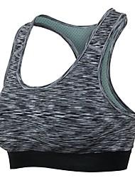 abordables -Femme Soutien-Gorges de Sport Design Anatomique Respirabilité pour Yoga Exercice & Fitness Course/Running Spandex Noir Violet Rouge Vert