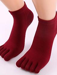 Недорогие -3 пары Для женщин Носки Standard Однотонный Сохраняет тепло Non-Slip Хлопчатобумажная ткань EU36-EU42