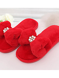 cheap -Girls' Shoes Fleece Spring Fall Comfort Slippers & Flip-Flops for Casual Black Gray Red Pink