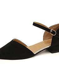 Недорогие -Жен. Обувь Полиуретан Весна / Осень Удобная обувь На плокой подошве На низком каблуке Черный / Хаки
