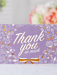 cheap -Folded Wedding Invitations 20 - Thank You Cards Classic Style Embossed Paper Pattern / Print
