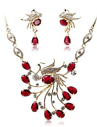 cheap -Women's Jewelry Set - Gold Plated Fashion, Elegant Include Bridal Jewelry Sets Red For Wedding / Party