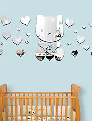 Недорогие -Геометрия Наклейки Простые наклейки Декоративные наклейки на стены,металл Украшение дома Наклейка на стену Окно