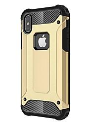baratos -Capinha Para Apple iPhone X iPhone 8 Plus Antichoque Capa traseira Armadura Rígida Metal para iPhone X iPhone 8 Plus iPhone 8 iPhone 7