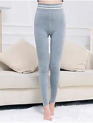 cheap -Women's Retro Cotton Opaque Solid Color Legging,Solid Gray