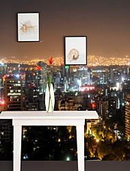 Недорогие -Ар деко 3D Украшение дома Современный Город / Флаг Облицовка стен, холст материал Клей требуется фреска, Обои для дома