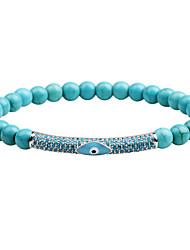 cheap -Men's Onyx Tiger Eye Stone Black Matte Chain Bracelet Bracelet Bangles - Fashion Bracelet Black / Brown / Turquoise For Daily Formal / White Turquoise