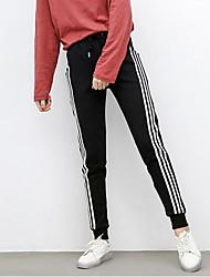 economico -Da donna A vita medio-alta Semplice Media elasticità Pantaloni della tuta Pantaloni,Monocolore Inverno Autunno