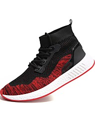 cheap -Men's Shoes Knit Tulle Winter Spring Comfort Athletic Shoes for Athletic Black Red Green Black/Red