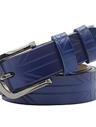 cheap -Women's Active Basic Leather Waist Belt Buckle
