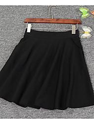 preiswerte -Damen Einfach Ausgehen Kurz / Mini Röcke A-Linie, Polyester Solide Frühling