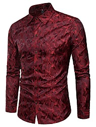 abordables Weekly Deals-Chemise Homme, camouflage - Coton Chic de Rue / Manches Longues