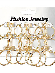 cheap -Women's Hoop Earrings - Silver Plated, Gold Plated Fashion, Statement, Oversized Gold / Silver For Daily / Evening Party