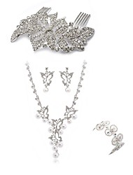 cheap -Women's Jewelry Set - Imitation Diamond Butterfly European, Fashion Include Hair Combs / Bridal Jewelry Sets White For Wedding / Party