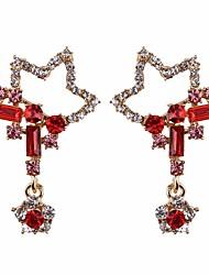 abordables -Femme Cristal / Zircon Boucles d'oreille goutte - Cristal, Imitation Diamant Etoile Classique, Mode Rouge / Vert Pour Quotidien / Formel