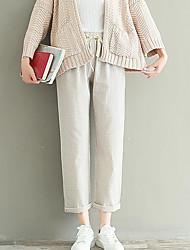 cheap -Women's Mid Rise Micro-elastic Wide Leg Pants,Simple Wide Leg Color Block