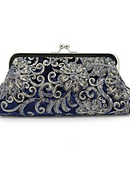 cheap -Women's Bags Velvet Evening Bag Embroidery for Wedding Event/Party All Seasons Black Red Royal Blue