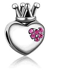 Недорогие -Ювелирные изделия DIY 1 штук Бусины Искусственный бриллиант Сплав Пурпурный Синий Сердце Шарик 0.2 cm DIY Ожерелье Браслеты