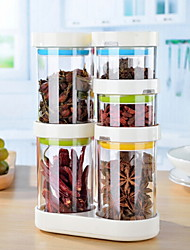 baratos -Vidro Gadget de Cozinha Criativa Armazenamento de alimentos 9pcs Organização de cozinha