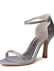 preiswerte -Damen Schuhe Paillette Frühling Sommer Pumps Hochzeit Schuhe Stöckelabsatz Peep Toe Paillette Schnalle für Hochzeit Party & Festivität