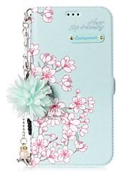 Недорогие -Кейс для Назначение SSamsung Galaxy J7 (2017) J5 (2017) Бумажник для карт со стендом Флип С узором Своими руками Чехол Цветы Твердый Кожа