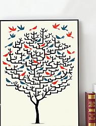 baratos -Desenho Animado Ilustração Arte de Parede,Plástico Material com frame For Decoração para casa Arte Emoldurada Sala de Estar