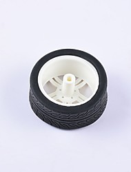 cheap -Crab Kingdom® DIY Educational Car Parts Car Wheel  TT Motor Tyre 1PCS Black and White#1