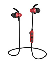 cheap -MS-T4 In Ear Neck Band Wireless Headphones Dynamic Plastic Sport & Fitness Earphone with Volume Control with Microphone Headset