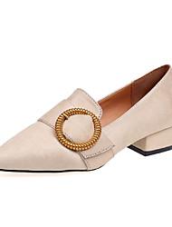 preiswerte -Damen Schuhe PU Sommer Komfort Sandalen Walking Niedriger Heel Offene Spitze Schnalle für Schwarz Rosa