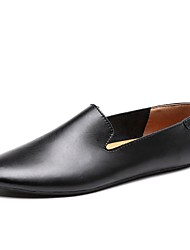 cheap -Men's Shoes Real Leather PU Leather Spring Summer Comfort Light Soles Loafers & Slip-Ons for Casual Brown Black White