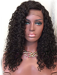 cheap -Human Hair Lace Front Wig / Glueless Lace Front Wig Brazilian Hair Curly / Water Wave 150% Density Natural Hairline / Side Part / African American Wig Women's Human Hair Lace Wig