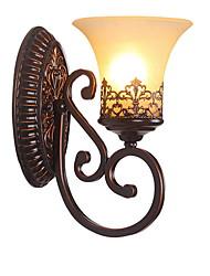 Недорогие -Американская страна стеклянная стена браун коридор северная Европа современная простота гостиная спальня настенная лампа