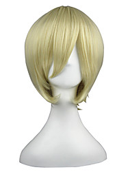 cheap -Synthetic Wig kinky Straight Synthetic Hair Blonde Wig Women's Short Capless
