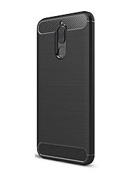 Недорогие -Кейс для Назначение Huawei Mate 10 pro Mate 10 lite Mate 10 Ультратонкий Сплошной цвет Мягкий для Huawei