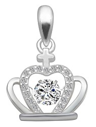 cheap -Women's Cubic Zirconia Charms / Pendant - Zircon, Silver Crown Fashion, Elegant Pendant Silver For Birthday / Date