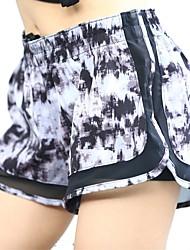 abordables -Mujer Correa Shorts de running - Blanco, Negro, Gris oscuro Deportes Licra Pantalones / Sobrepantalón / Leggings Ropa de Deporte Secado