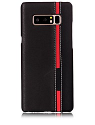 Недорогие -Кейс для Назначение SSamsung Galaxy Note 8 С узором Задняя крышка Полосы / волосы Твердый Искусственная кожа для Note 8