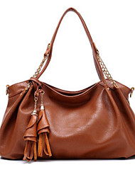 cheap -Women's Bags PU Shoulder Bag Tassel for Casual Outdoor Winter Blue Fuchsia Brown Khaki